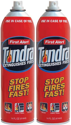 5. First Alert AF400-2 Tundra Fire Extinguisher Aerosol Spray Twin Pack