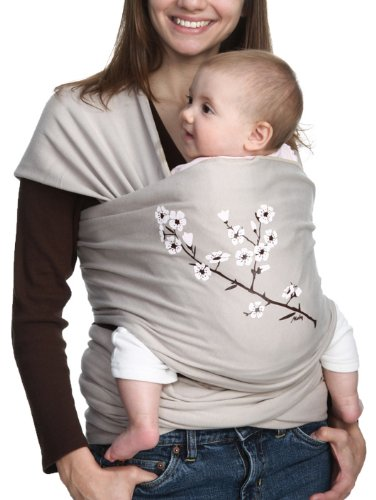 8. Moby Wrap UV SPF 50+ 100% Cotton Baby Carrier, Almond Blossom