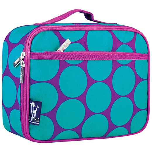 5. Wildkin Big Dot Aqua Lunch Box