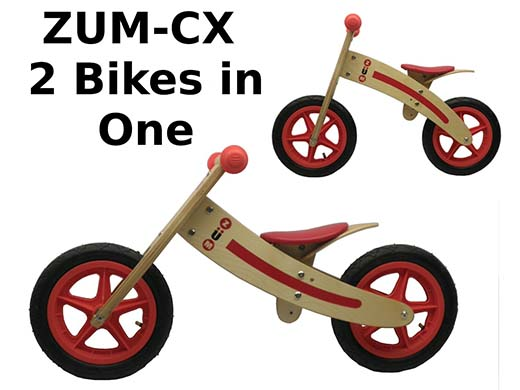 10. ZÜM CX Wooden Balance Bike