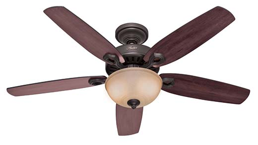 1. Hunter Builder Deluxe Ceiling Fan 53091