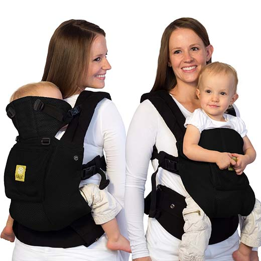 6. LILLEbaby Complete Airflow 6-in-1 Baby Carrier- Black
