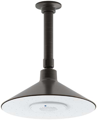 4. KOHLER 99105-2BZ MOXIE 2.5 GPM Rainhead with Wireless Speaker