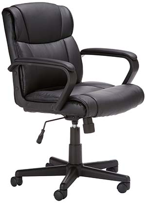 5. Amazon-Basics Mid-Back Office Chair