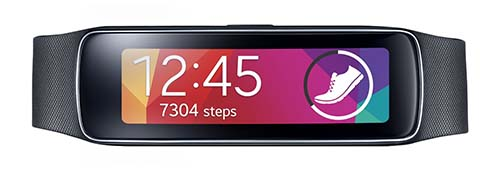 10. Samsung Gear Fit Smart Watch, Black