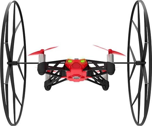 8. Parrot MiniDrone Rolling Spider Red Connected Toy