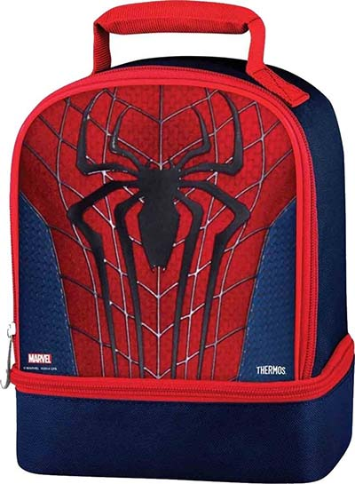 9. Ultimate Spiderman Thermos Dual Compartment Lunch Kit