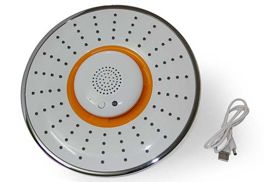 5. BangK Musical Showerhead, with Waterproof Bluetooth Wireless Speaker