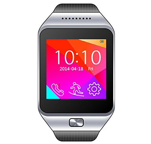 3. CNPGD All-in-1 Watch Cell Phone & Smart Watch Sync to Android IOS Smart Phone (Silver)