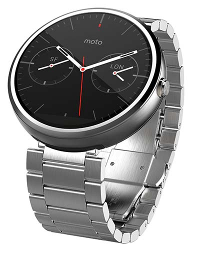 4. Motorola Moto 360 - Light Metal, 23mm, Smart Watch