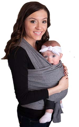 7. LIFETIME GUARANTEE - CuddleBug Baby Wrap Carrier - Grey Baby Wrap - Free Shipping - ALL NATURAL