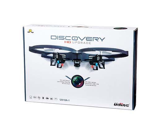 10. Updated HD Version - UDI U818A-1 Discovery Gyro RC Quadcopter With HD Camera