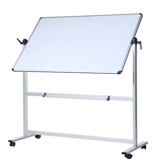 7. Viz-pro Double-sided Magnetic Mobile Whiteboard, 48 X 36 Inches, Aluminium Frame & Stand