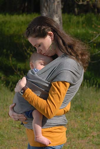 4. #1 Style Child Carrier, The Best and Original SnuggBugg Baby Wrap. This Grey Baby Wrap and Infant Sling Keeps