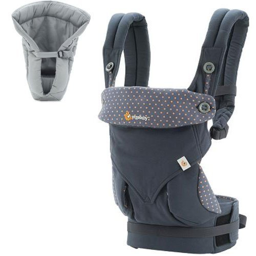 10. Ergo Baby 4 Position 360 Dusty Blue Carrier with Grey Insert