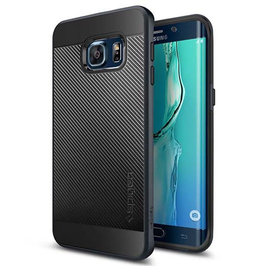 8. Galaxy S6 Edge Plus Case, Spigen Neo Hybrid Carbon Case for Galaxy S6 Edge+ (Plus) - Metal Slate