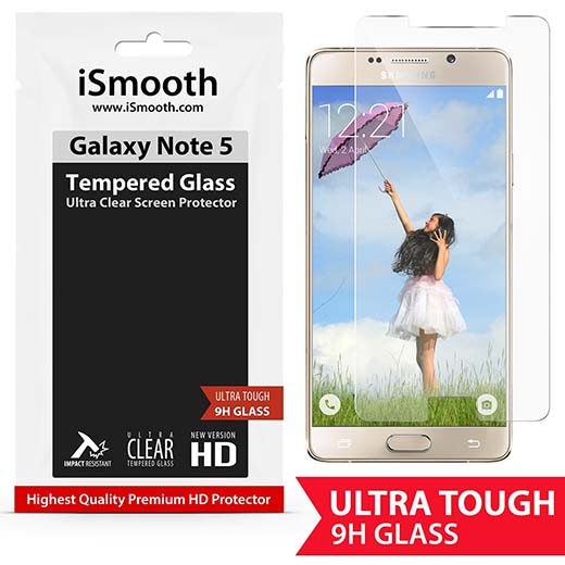 8. Galaxy Note 5 Screen Protector Premium Tempered Glass