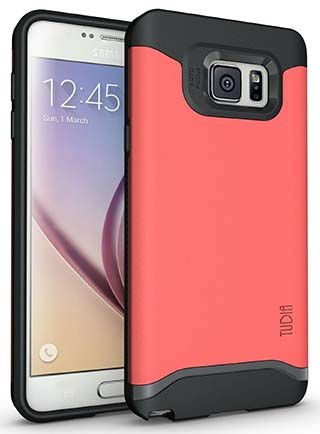 8. Tudia Slim Fit Merge Dual Layer Protective Case (RED)