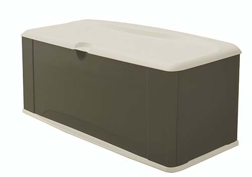 7. Rubbermaid 5E39 EXTRA LARGE DECK BOX with seat, sandstone