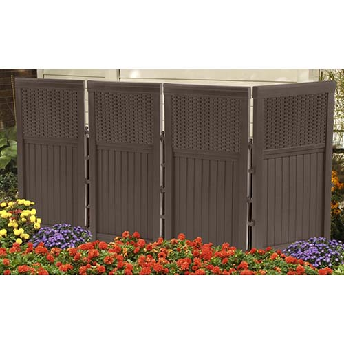 6. Suncast FSW4423 4 panel resin wicker outdoor screen