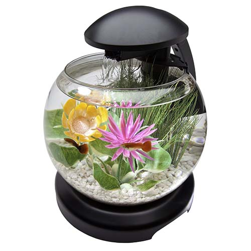 4. Tetra 1.8 Gallon Waterfall Globe Aquarium Kit-1-Gallon