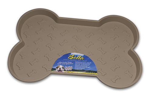 5. Loving Pets Bella Spill-Proof Pet Mat for Dogs, Small, Tan