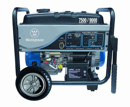 3. Westinghouse WH7500E Portable Generator
