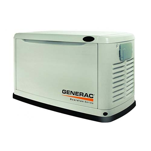 6. Generac 6438 11,000 Watt Air-Cooled Steel Enclosure Gas Powered Standby Generator