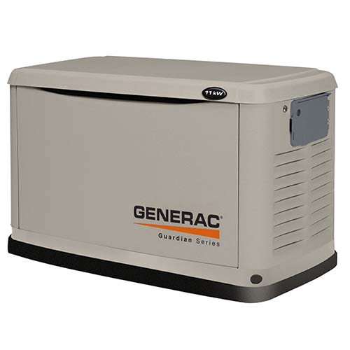 7. Generac 6439 11,000 Wat Air Cooled Steel Enclosure Liquid Propone/Natural Gas Powered Standby Generator (CARB Compliant) without Transfer Switch