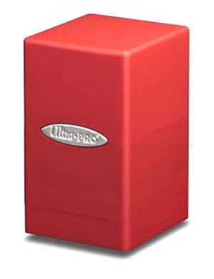1. Red satin tower deck boxes