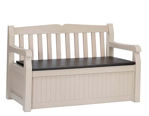 6. Keter 186300 70 Gallon Garden Bench Box