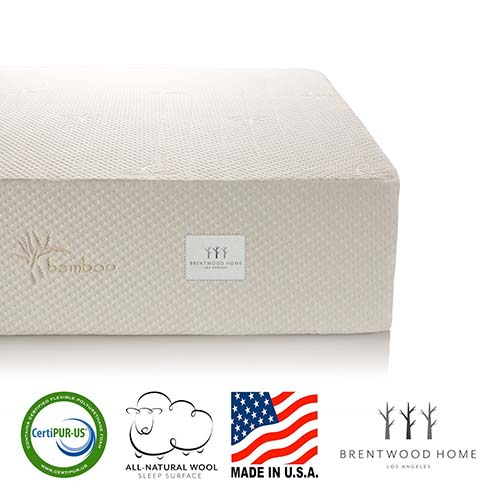 6. Brentwood Home 13-Inch Gel HD Memory Foam Mattress