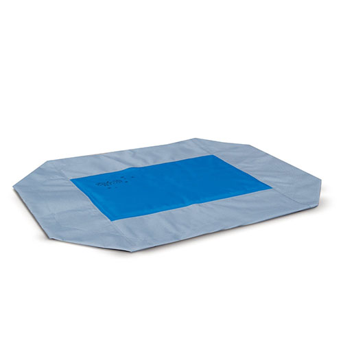 7. K&H Manufacturing Coolin' Gel Pet Cot Cover, Medium, Gray/Blue-p