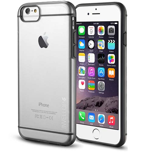 10. INVELLOP GRAY/CLEAR iPhone 6 6S PLUS Case