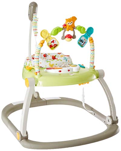 3. Fisher-Price Woodland Friends Space Saver Jumperoo