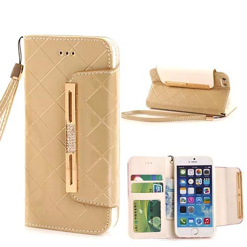 7. Woman's Luxury Wallet Leather Case with Wrist Strap