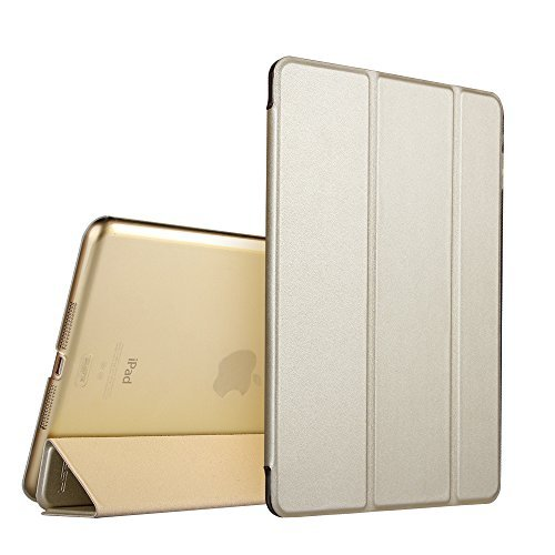 4. iPad Mini Case, iPad Mini 3 Case, ESR iPad Mini Yippee Colour Series Transparent Back Ultra Slim Light Weight Auto Wake Up/Sleep Smart Cover Tri-fold Protective PU Leather Case for iPad Mini 3/2/1 (Champagne Gold)