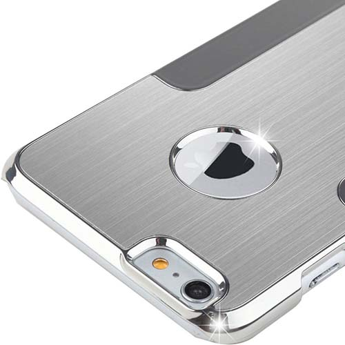 9. ULAK iPhone 6 Plus Case Silver Luxury Chrome Aluminum Coating