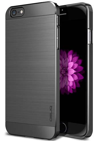 7. OBLIQ - Slim Metal iPhone 6S Plus Case colored in Titanium Space Gray