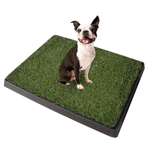 9. Synturfmats Indoor/Outdoor Pet Potty Patch, 3 Pieces Puppy Training Pad Dog Relief System