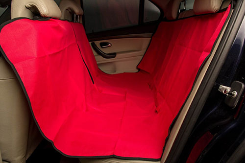 3. [Paradise For Pets] Multi-Purpose Durable Waterproof Pet Travel Car Seat Cover & Hammock - Red