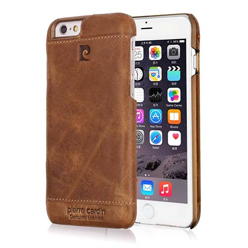 2. Pierre Cardin Genuine Cowhide Leather IPhone 6S Case
