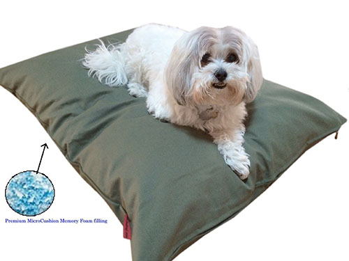 6. Durable Luxury Comfort Pet Dog Microcushion Pillow Bed with Inner Waterproof Resistant Liner + External Cover