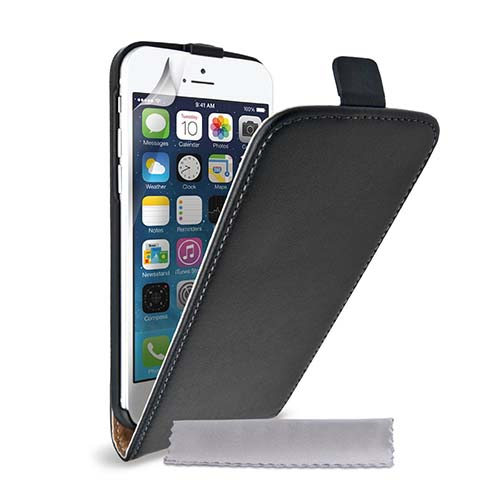 6. Case Flex Genuine Leather Flip Cover