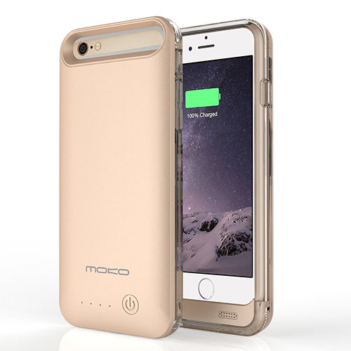 5. [MFI Certified] MoKo iPhone 6s Plus Case - 4000mAh Protective Extended Battery Charging Case with Removable