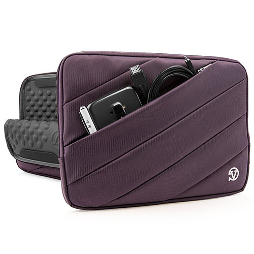 6. VanGoddy JAM Sleeve PRO Padded Nylon Quilted Cover PURPLE PLUM for Microsoft Surface Pro 3 & Pro 4 12' Tablet