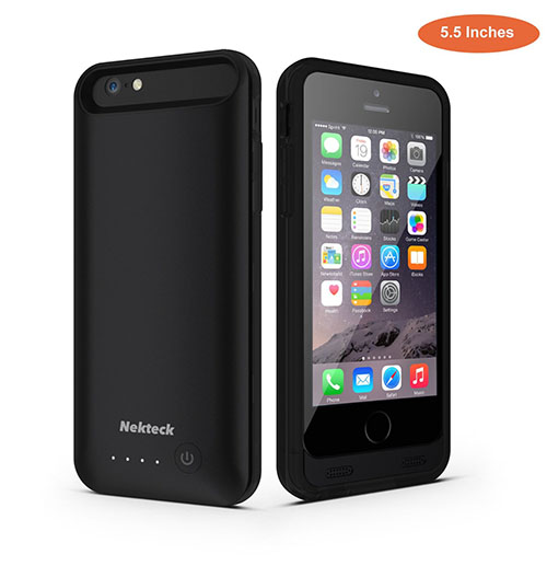 3. iPhone 6S Plus Battery Case, [Apple MFI certified] Nekteck