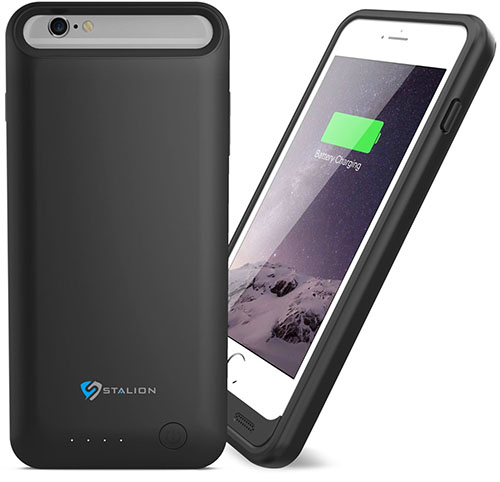 1. iPhone 6 Plus / 6s Plus Battery Case : Stalion® Stamina Rechargeable Extended Charging Case