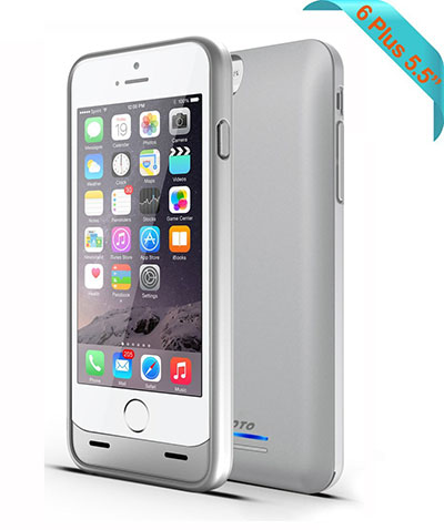 8. iPhone 6 Plus Battery Case, JOTO Slim Fit Extended Battery Case