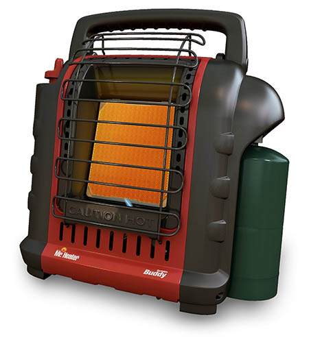 2. Mr. Heater F232000 MH9BX Buddy 4,000-9,000-BTU Indoor-Safe Portable Radiant Heater